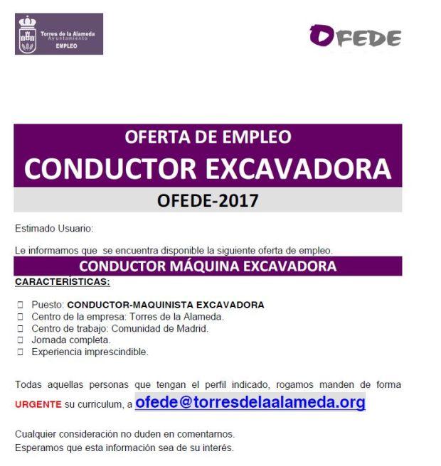 oferta conductor-maquinista excavadora 11072017