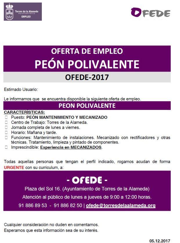 OFERTA PEÓN POLIVALENTE 05122017