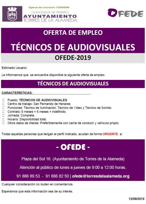 NOTA TÉCNICOS DE AUDIOVISUALES 12082019